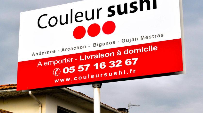 Panneau pour Couleur Sushi
