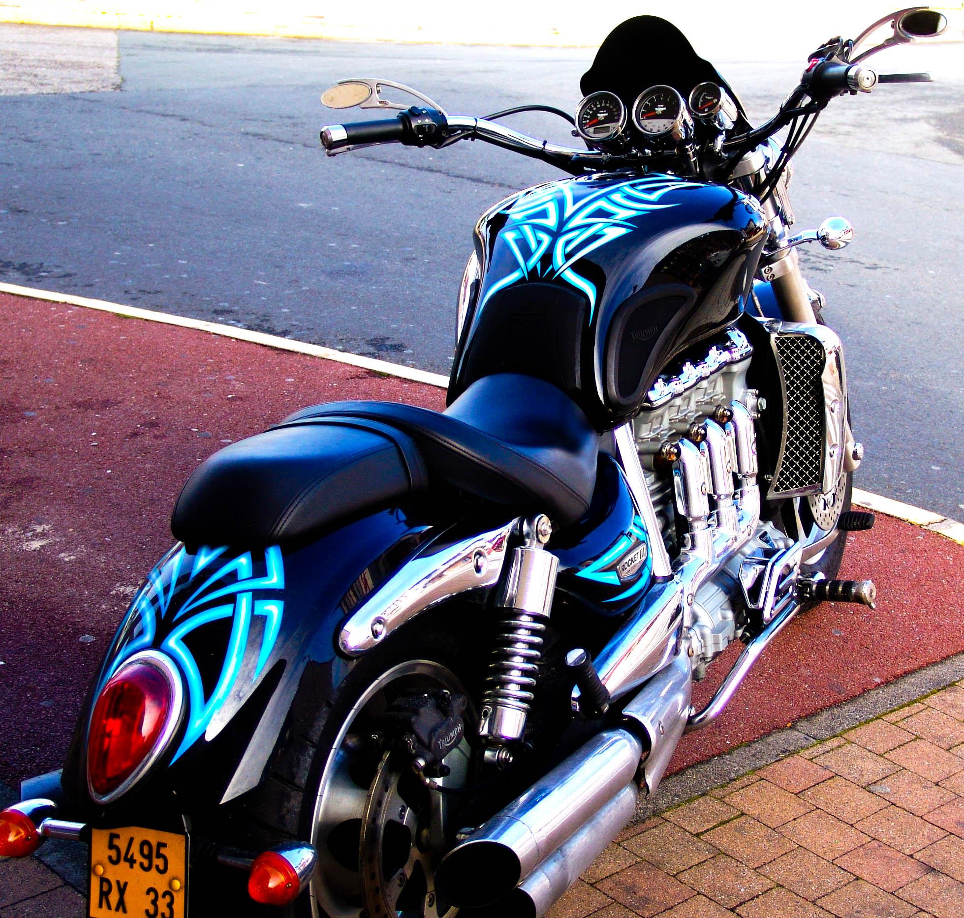 Décoration d'une moto
