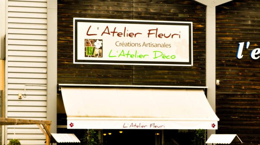 Panneau pour l'enseigne de l'Atelier Fleuri